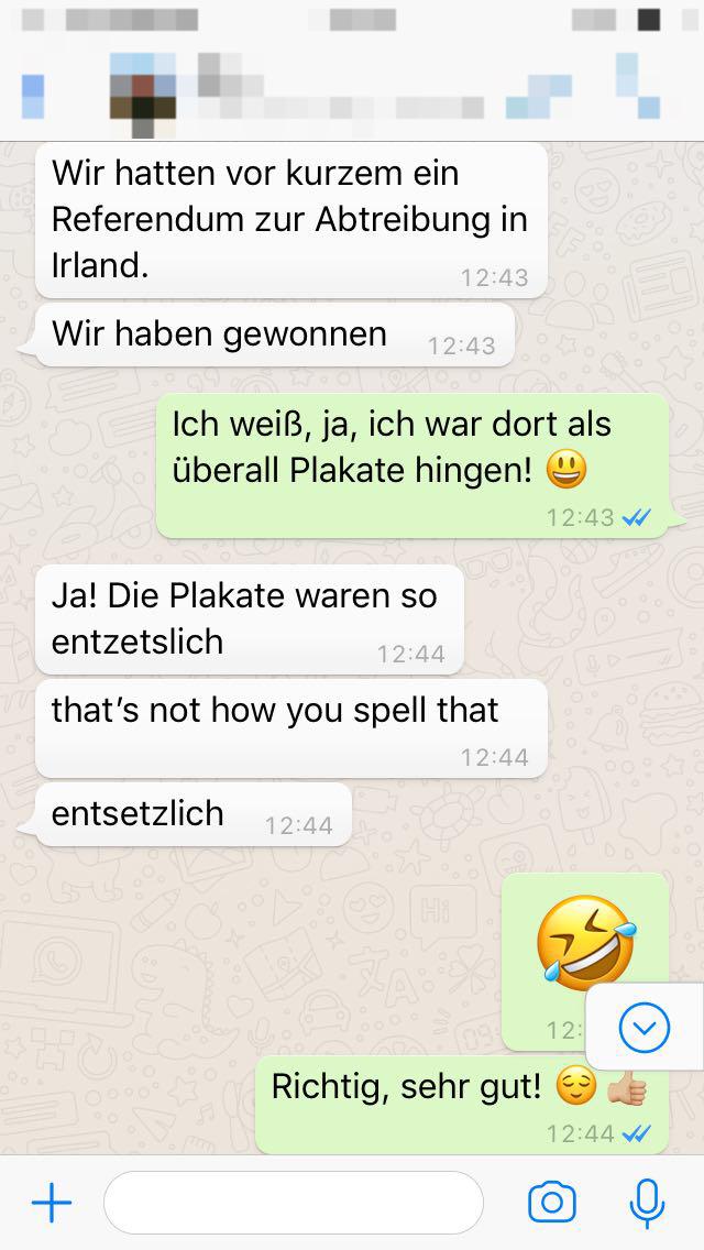Whatsapp Schreibweise