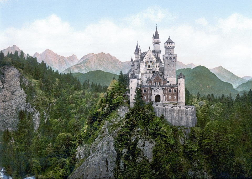 Neuschwanstein - a beautiful German castle